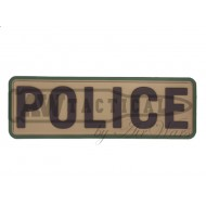 "Патч Emerson PVC Patch""POLICE""-BROWN"