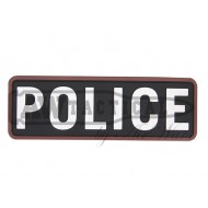 "Патч Emerson PVC Patch""POLICE""-WHITE"