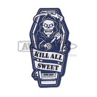 "Патч Emerson ""KILL ALL SWEET""PVC Patch BLUE"