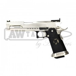 Пистолет AW Custom HX22 Gold Standard IPSC Gas Blowback - Silver страйкбольный