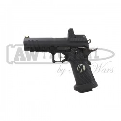 Пистолет AW Custom HX26 Hi-Capa with Docter Gas Blowback Pistol - Black страйкбольный