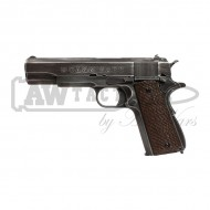 "Пистолет AW Custom Full Metal Custom ""Molon Labe"" Weathered 1911A1 - Brown grip страйкбольный"