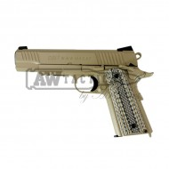 Пистолет Cybergun Colt M45A1 Rail CO2 GBB Pistol - Desert Tan