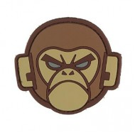 Шеврон Mil-Spec Monkey PVC Patch - Monkey Head (Desert)