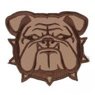 Шеврон Mil-Spec Monkey Patch - Bulldog Head Small (Desert)