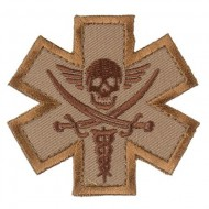 Шеврон Mil-Spec Monkey Patch - Tactical Medic Pirate (Desert)